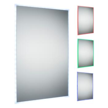 RGB LED Colour Changing Bathroom Mirror 700mm x 500mm - RCTRGB