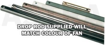 """Westinghouse Ceiling Fan Drop Rod - Silver - 18"""" (460mm)"""