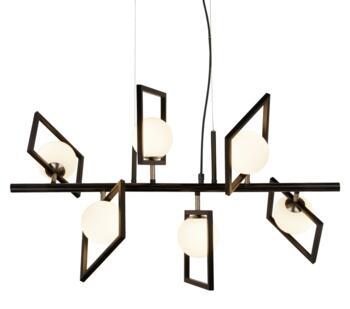 Matt Black 6 Light Ceiling Pendant  - 4836-6BK