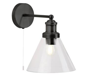 Matt Black Wall Light - 1277BK