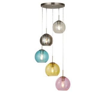 Satin Silver 5 Light Pendant - 8135-5SS