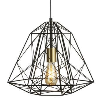 Geometric Black Cage Pendant Light - 7271BK