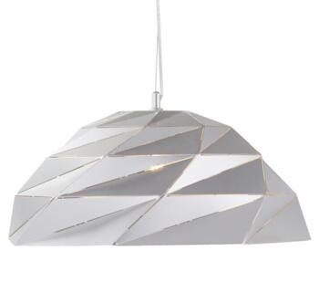 Satin Silver Origami Metal Single Pendant - 6242SI
