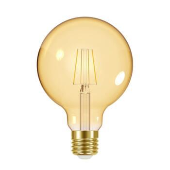 Matt Black 5 Light Pendant  - 5.5w Globe Dimmable LED Vintage Filament Lamp