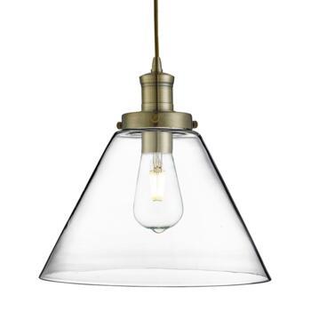 1 Light Antique Brass Pendant Ceiling Light - Antique Brass