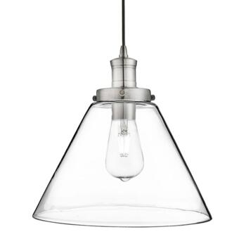 1 Light Satin Silver Pendant Ceiling Light - Satin Silver