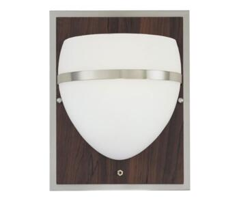 Westinghouse Wall Light - 64676 - Brushed Nickel/Wood