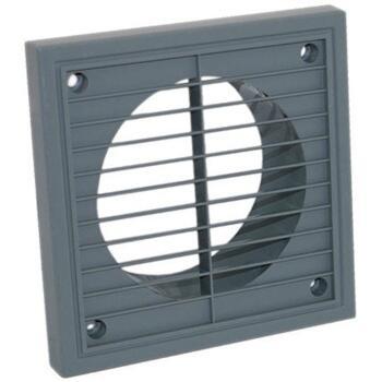 "Grey Fixed Fan Vent Grille  - 4"" 100mm"