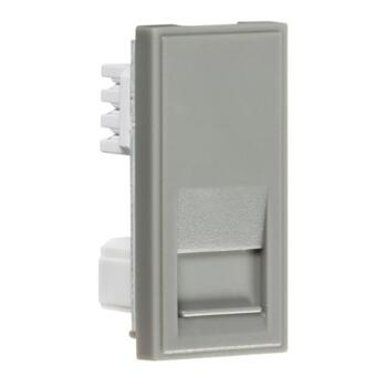 Telephone Secondary Eurodata Outlet Module - Grey
