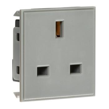 13Amp 1G Unswitched Socket Module - Grey