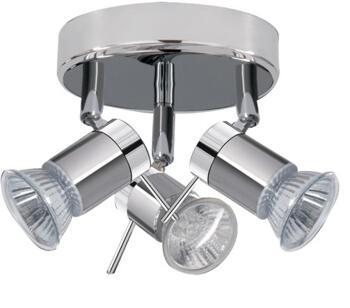 Chrome & Satin Silver 3 Light Spotlight  - 7443CC-LED