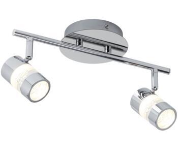 Chrome 2 Light LED Bathroom Bar Spotlight - 4412CC
