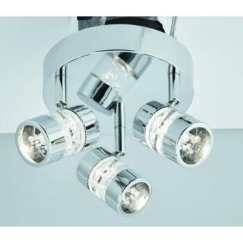 Chrome 3 Light Spotlight Plate - 4413CC