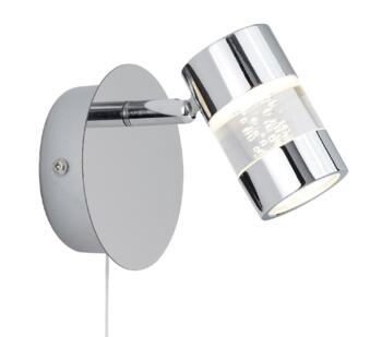 Chrome Switched LED Wall Spotlight - 4411CC