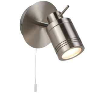 Satin Silver Samson Wall SpotLight - 6601SS