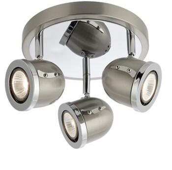 Satin Silver 3 Light Spotlight - 4923SS