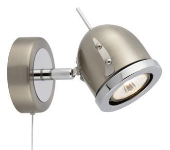 Satin Silver 1 Light Spotlight  - 4921SS