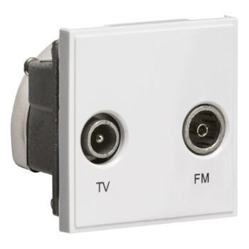 Diplexed TV /FM DAB Outlet Module  - White