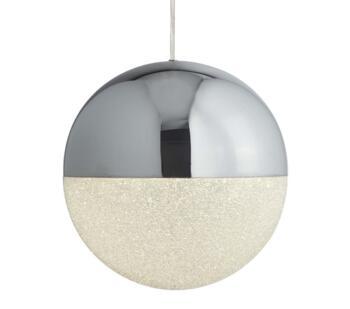 Chrome 1 Light Led Globe Pendant 5881cc