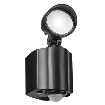 Black IP44 Single Spot Security Light with PIR - FL8BK