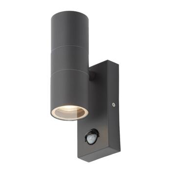 Anthracite Outdoor Up/Down Wall Light With PIR - ZN-29179-ANTH