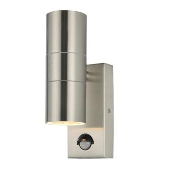 Stainless Steel Outdoor Up/Down Wall Light With PIR - ZN-29179-SST