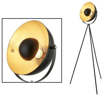 Matt Black 1 Light Tripod Floor Lamp - 8022BK