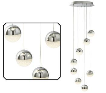 Chrome 8 Light Globe LED Pendant  - 5848-8CC