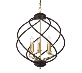 Black Cage 3 Light Pendant - 1803-3BK