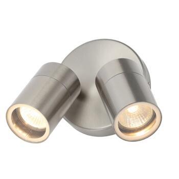 Stainless Steel IP44 Twin Spotlight - ZN-34018-SST