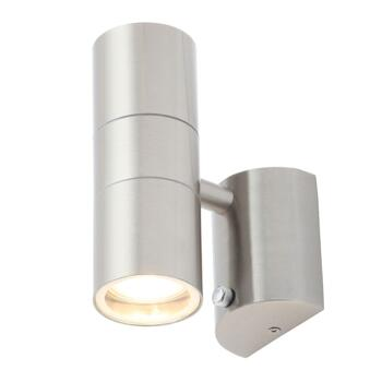 Stainless Steel Outdoor Up/Down Wall Light With Photocell - ZN-34022-SST