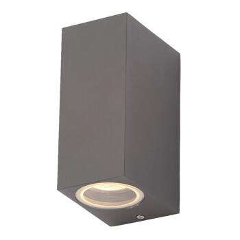 Fleet 2 Light Outdoor Wall Fitting In Anthracite Finish - ZN-31759-ANTH