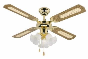"Global Orlando Ceiling Fan Light - Polished Brass - 42"" (1070mm)"
