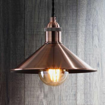 Small Antique Copper Diner Shade - INL-33818-ACOP