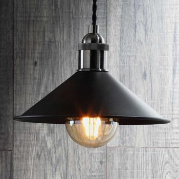 Small Matt Black Diner Shade - INL-33818-MBLK