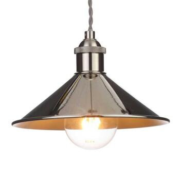 Small Polished Nickel Diner Shade - INL-33818-PNIC