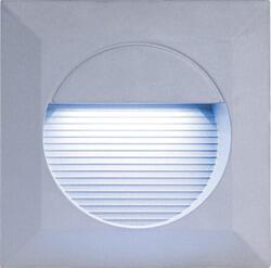 Grey Aluminium Square Recessed LED Wall Light - NH016W