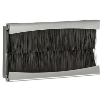 Brush Module 4 Gang 100 x 50mm - Grey