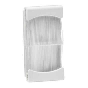 Brush Module 1 Gang 25 x 50mm  - White