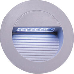 Grey Aluminium Round Recessed LED Wall Light - NH017W