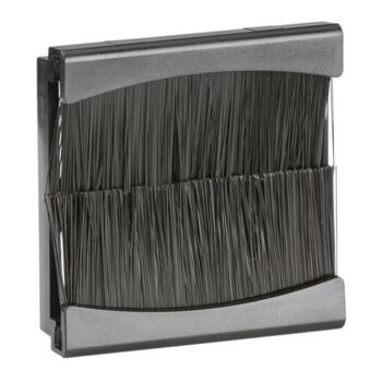 Brush Module 2 Gang 50 x 50mm - Black