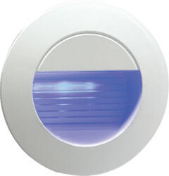 Matt White Round Recessed IP54 Blue LED Wall Light - NH020B