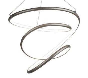 Satin Silver LED Pendant - 7341SS