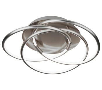Satin Silver LED Flush Ceiling Light - 5501SS
