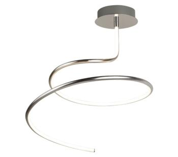Satin Silver Swirl LED Ceiling Light - 3321SS
