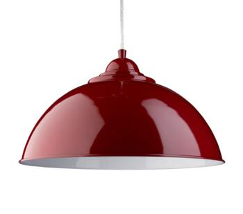 Red Dome 1 Light Metal Pendant - 8140RE