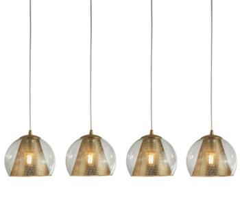 Satin Brass 4 Light Ceiling Bar Pendant - 8274-4SB