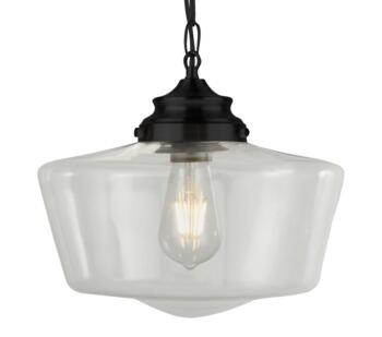Black 1 Light Pendant - 8071-1BK