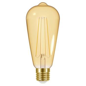 Antique Bronze 3 Light Industrial Bar Pendant - 5.5w ST64 Dimmable LED Vintage Filament Lamp