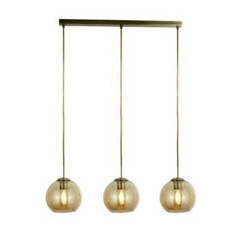 3 Light Glass Bar Pendant AM - Amber Copper
